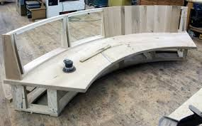 Image result for curved bench