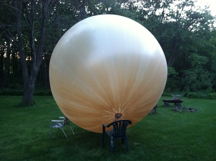 ...a 28' balloon takes forever to blow up. I gave up
