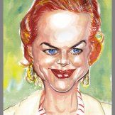 With new text, my Caricatures Gallery Page featuring caricatures of celebrities and cartoon avatars.
