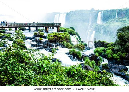 Iguassu Falls, the largest series of waterfalls of the world, view from Brazilian side by Curioso, via ShutterStock