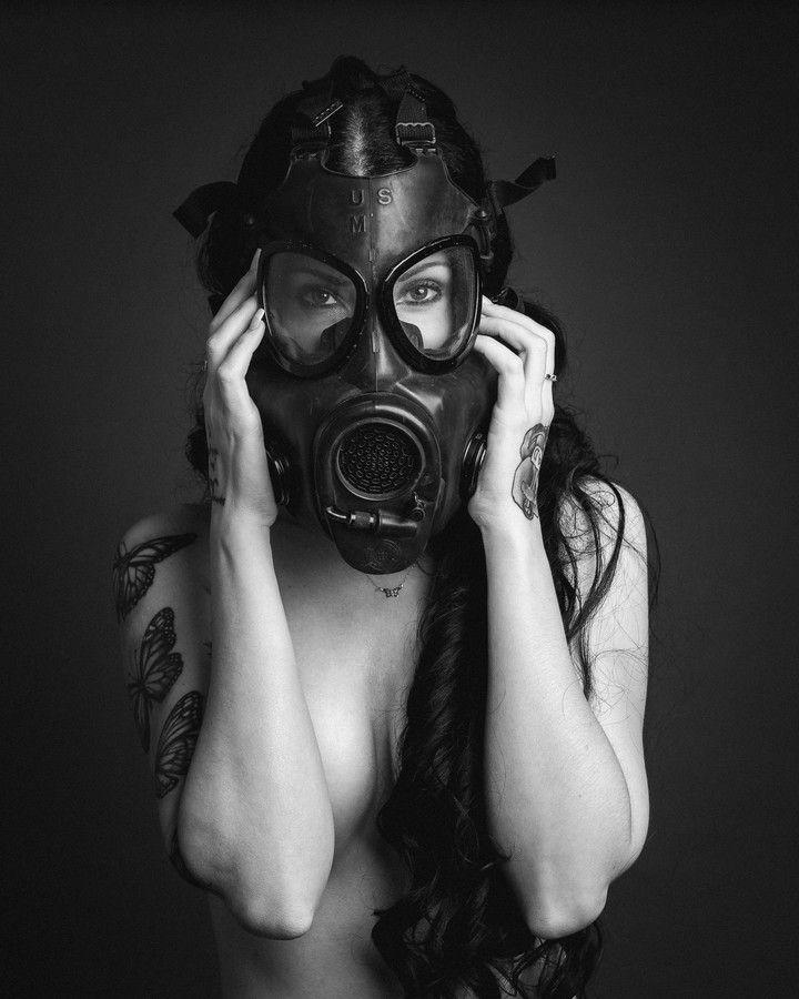 gas mask woman - Google Search