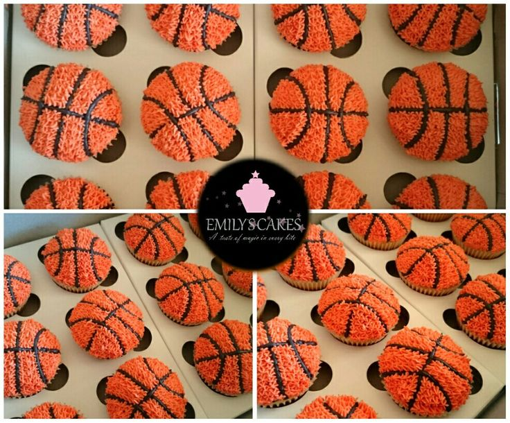 #basketball #basketballcupcakes If you are a B-ball fan these are the best cupcakes in the world, fit even for Lebron James. All hand-piped in buttercream icing #Emilyscakessa #EmilysCakes #cupcakes #thebestcupcakesinjhb #thebestcupcakesintown