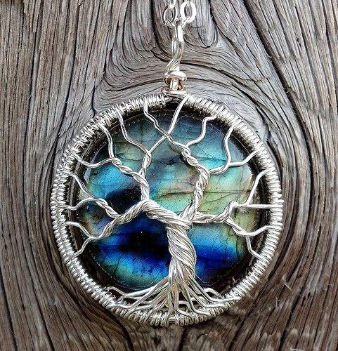 Labradorite Tree Pendant