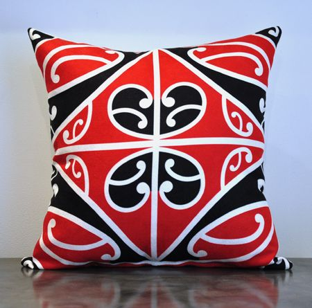 Borrowed Earth Design Kura Gallery Maori Art Design New Zealand Kowhaiwhai Korero tuku iho cushion