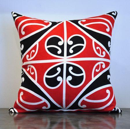 Borrowed Earth Design Kura Gallery Maori Art Design New Zealand Kowhaiwhai Korero tuku iho cushion