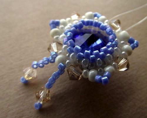Blog | Jewellery works in progress - Swarovski rivoli with seed beads