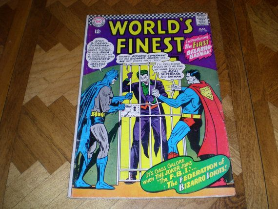 Silver Age Superman / Batman DC World's Finest Comics 156 The FIRST by HeroesRealm on Etsy Listed for Sale @https://www.etsy.com/shop/HeroesRealm $24.00