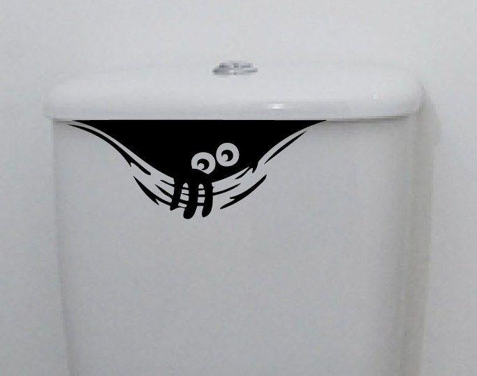 Funny Toilet Hiding Sticker //Price: $4.40 & FREE Shipping //     #DIY