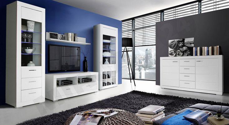 Meble do dużego pokoju dla nastolatka - biały kolor to HIT! http://www.mirjan24.pl/mebloscianki/3911-meble-mlodziezowe-snow-ii-5900101903031.html #white #funiture #teenager
