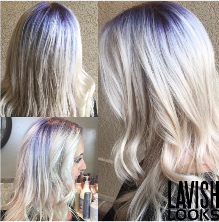 Purple Shadow Root Balayage Color Pinterest Balayage