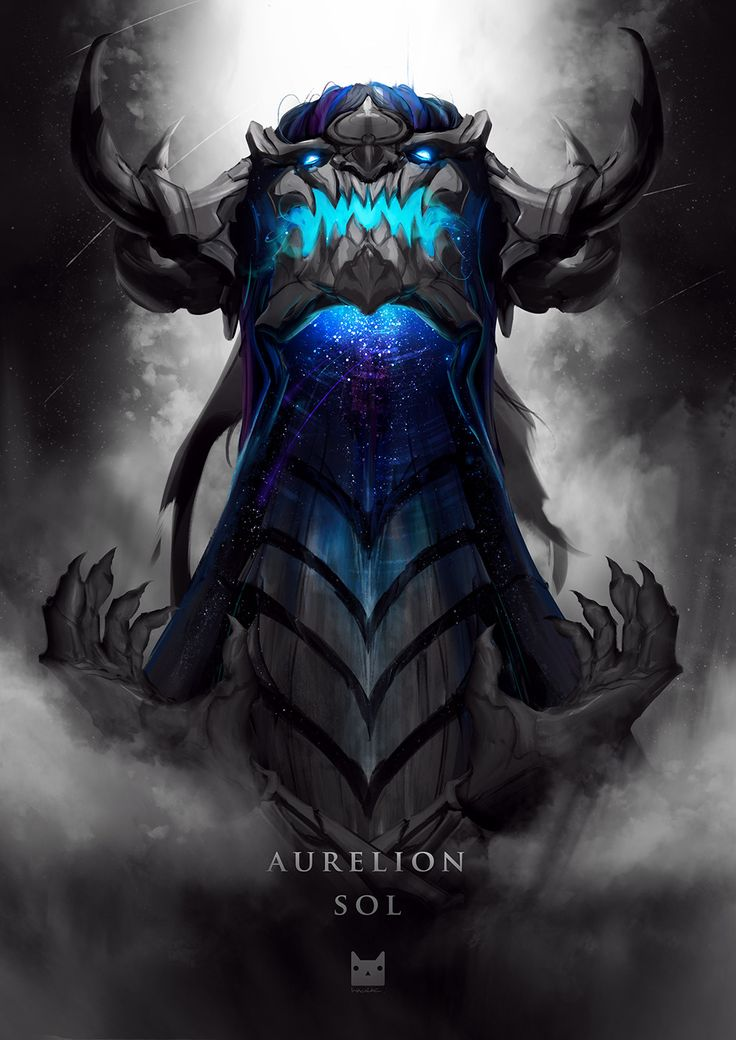 Aurelion Sol, Wasan Techawibulchai on ArtStation at https://www.artstation.com/artwork/qOeay