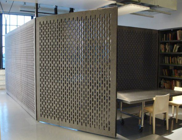 Perforated screens wall partitions in offices diller scofidio renfro