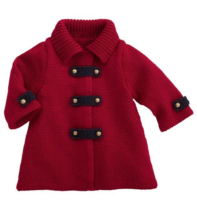Manteau bébé rouge