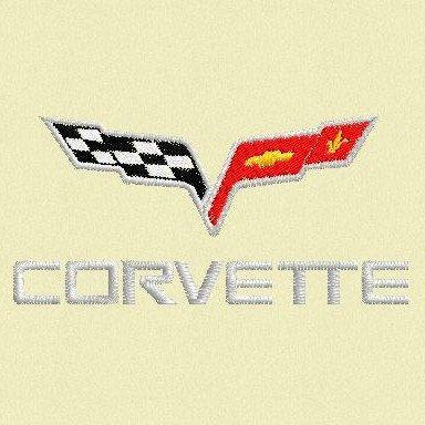 Corvette Logo Embroidery Design