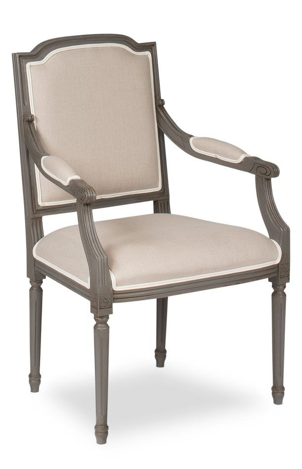 Transitional Antique Reproduction Dining Chairs in Grey Finish - Antique Reproduction Louis XVI Chairs With Grey Frames In 2018