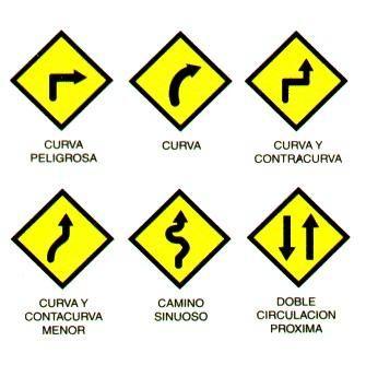 Cómo son las señales de tránsito de prevención - 7 pasos