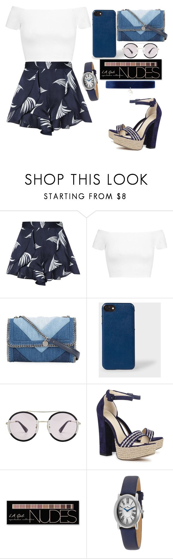 """""""Untitled #932"""" by hela-ba ❤ liked on Polyvore featuring C/MEO COLLECTIVE, Alice + Olivia, STELLA McCARTNEY, Gucci, Alexandre Birman, Charlotte Russe, Lucien Piccard and Joomi Lim"""