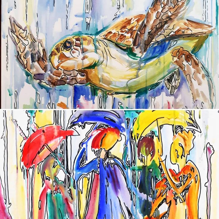 """🎨Melinda Horvath🖼 Künstlerin """"ich versuche die Schönheit des Lebens in… – Painting –  Drawing – Art"""