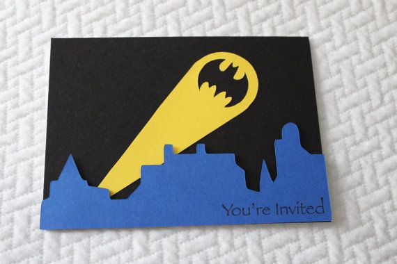 Batman Birthday Invitations by handmadewithlovnessa on Etsy, $18.00