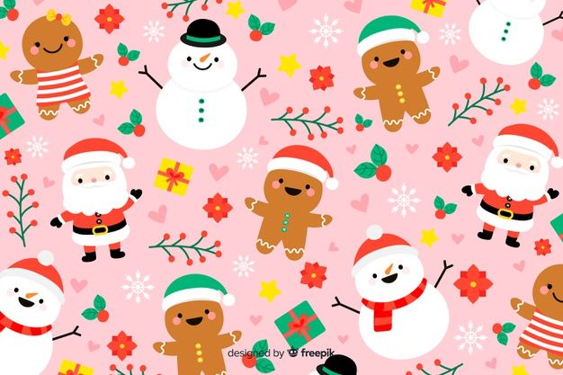 Download Christmas Background In Hand Drawn For Free Cute Christmas Backgrounds Free Christmas Backgrounds Christmas Drawing