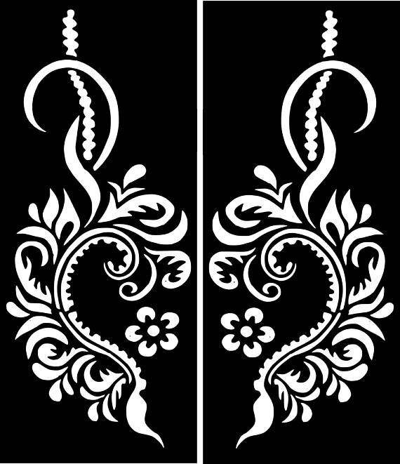 Variety Henna Temporary Tattoo Glitter Stencil Sticker Body