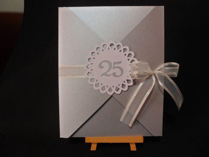 Invitación boda de plata