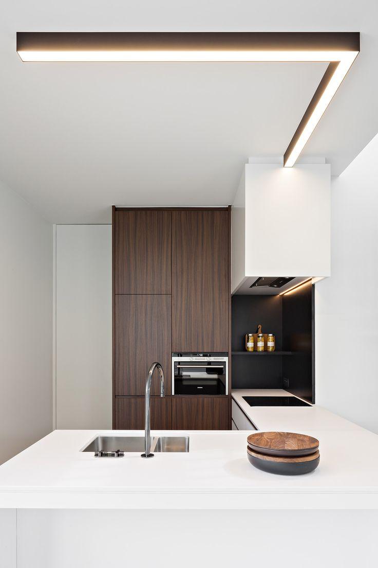 #kitchen #modern - Obumex I Kitchen I White I Brown I Lightning I Design