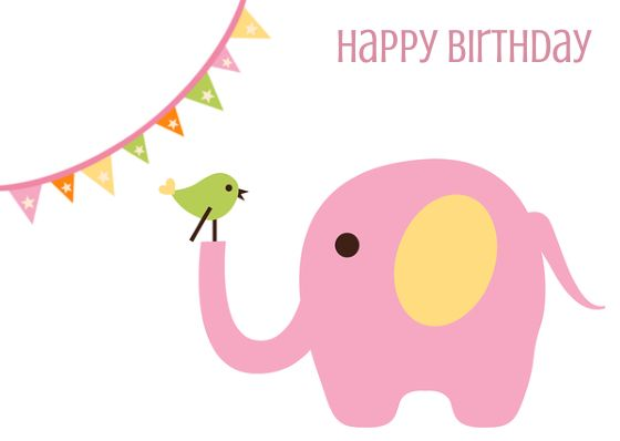 Best 25 Happy birthday elephant ideas – Dancing Baby Birthday Card