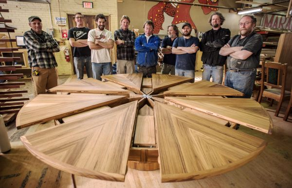 Our biggest expanding round table has just been completed. Made out of selected quarter-sawn teak, this expanding round table is as impressive as it is big.