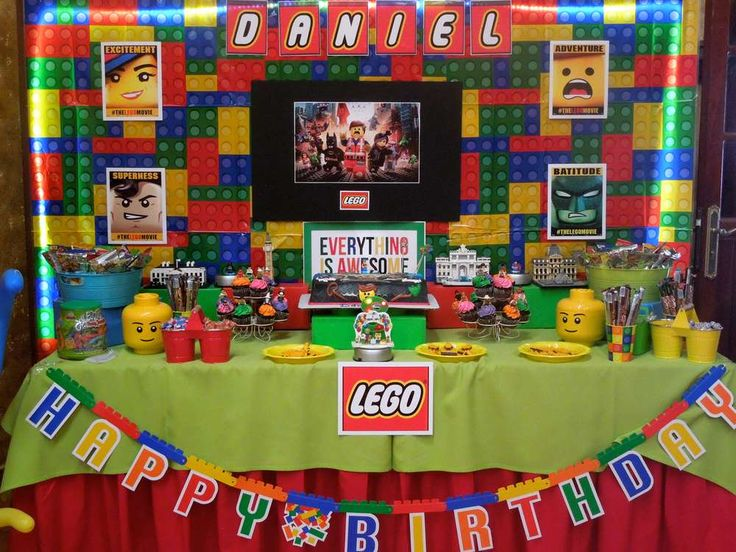 Colorful Lego Movie birthday party! See more party ideas at CatchMyParty.com!