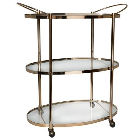 Ritz 3 Tier Drinks Trolley Copper Colour