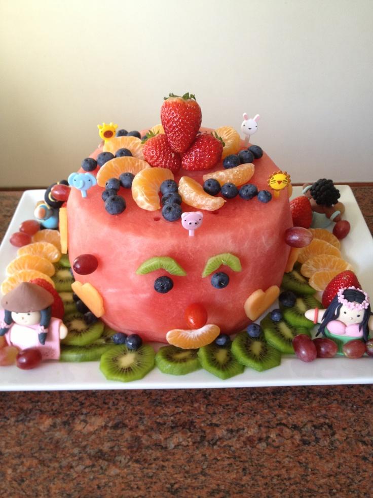 Fruit Birthday Cake Party Ideas Pinterest