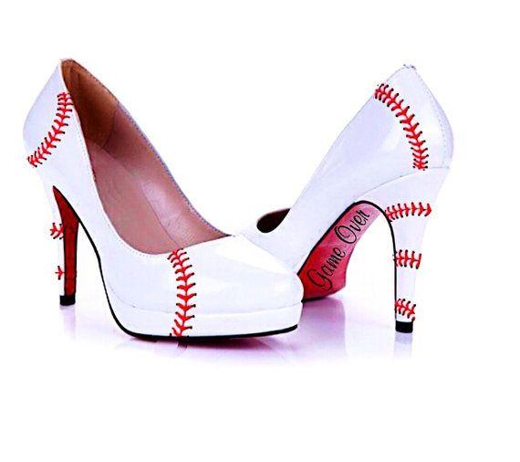 The heels in the picture are around a 4 heel. - 17 Migliori Idee Su Baseball High Heels Su Pinterest Stagione Di