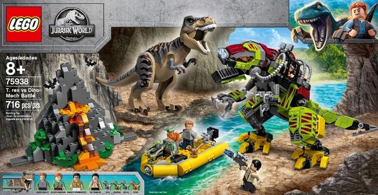 Best Buy Lego Jurassic World T Rex Vs Dino Mech Battle 75938 6278191 Lego Jurassic World Lego Jurassic Jurassic World Dinosaur Toys