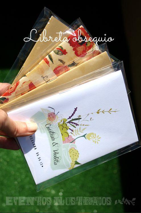 libretas obsequios para #bodas