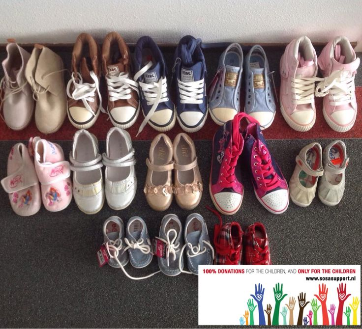 Thanks to Leemans shoes we can give these 13 pairs of shoes to children in South Africa!  12 days to go! Inspired by #salsshoes :)