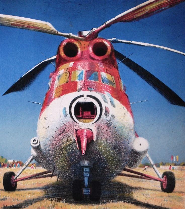 """Картину можно приобрести на сайте www.d-mansion.ru """"Стрекоза"""" 42,5х49см Серия цветных литографий про ожившие самолеты """"Обитатели неба"""""""