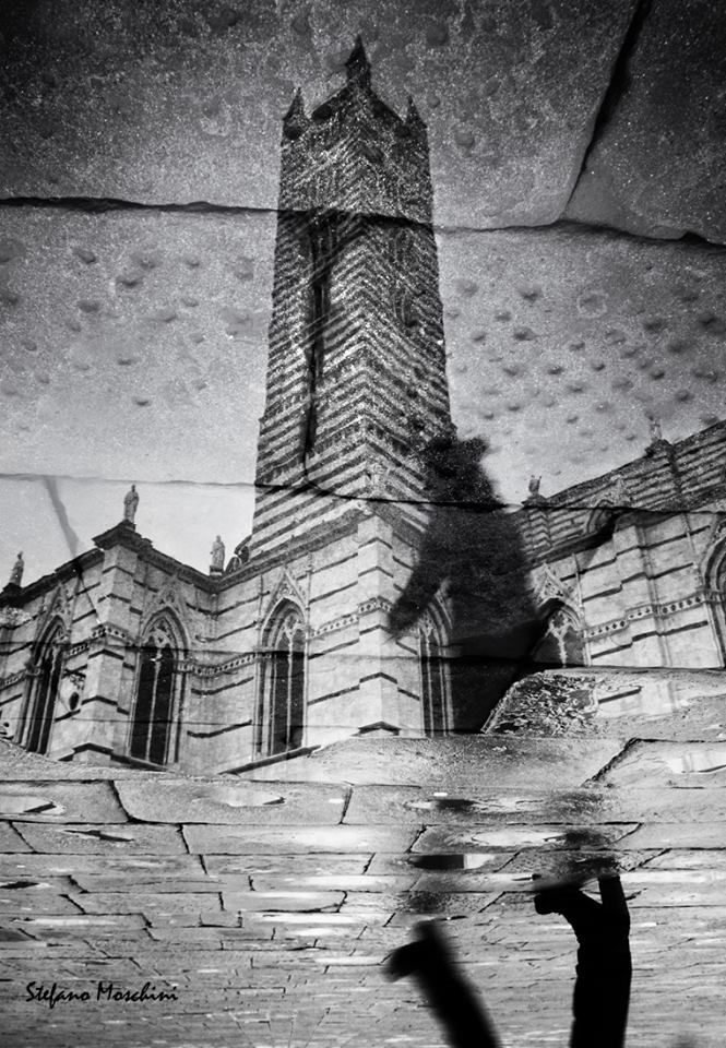 Sotto la pioggia - Foto di Stefano Moschini - #Siena #Toscana #DuomoDiSiena