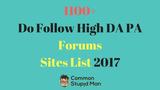 cool 1100+ Do Follow High DA PA Forums Sites List 2017 , Are you looking forDo Follow High DA PA Forums Sites List 2017 for your websites / blogs ? Then you are on right place. I have added an awesome huge...
