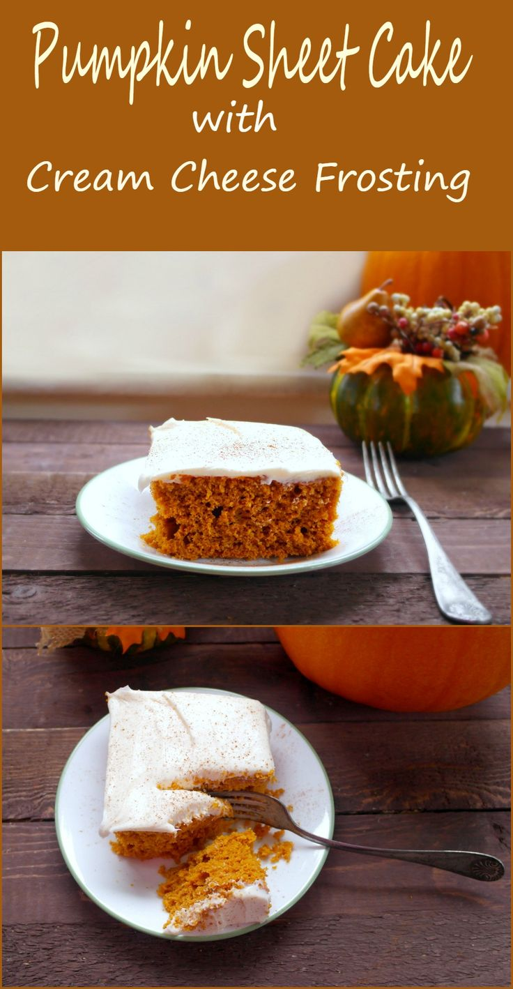 This pumpkin cake recipe with cream cheese frosting is going to fast ...