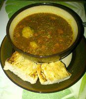 Sopa de Gandules y Jamón con Bolitas de Plátano