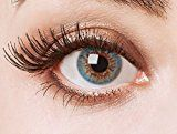 aricona Farblinsen  Natürliche farbige Kontaktlinse Swimming Pool    – Jahreslinsen für helle Augenfarben, ohne Stärke, Farblinsen als Modeaccessoire für den täglichen Gebrauch