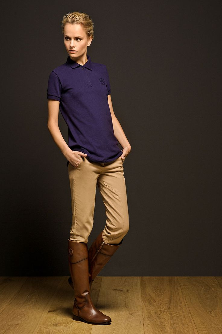 polo shirt, riding boots | The Equestrian Collection by Massimo Dutti