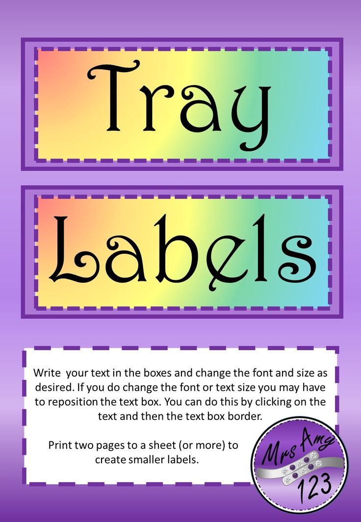 Rainbow Labels- Editable  and FREE!