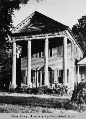 Chase House plantation in East Feliciana Parish in the 1930s :: Louisiana Works Progress Administration (WPA)
