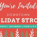 Ready for some festive holiday fun!? Please join us, and a number of additional downtown stores and restaurants in Colorado Springs, on Wednesday, Dec. 6 from 5-8 p.m. for the annual Downtown Holiday Stroll! Enjoy strolling carolers, festive holiday lights and one-night-only shopping and dining specials.