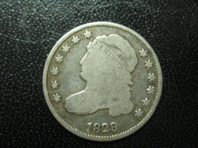 1829 capped bust 10 cents (dime) Check this out on ebay, great way to invest in a little historic silver, American Gem