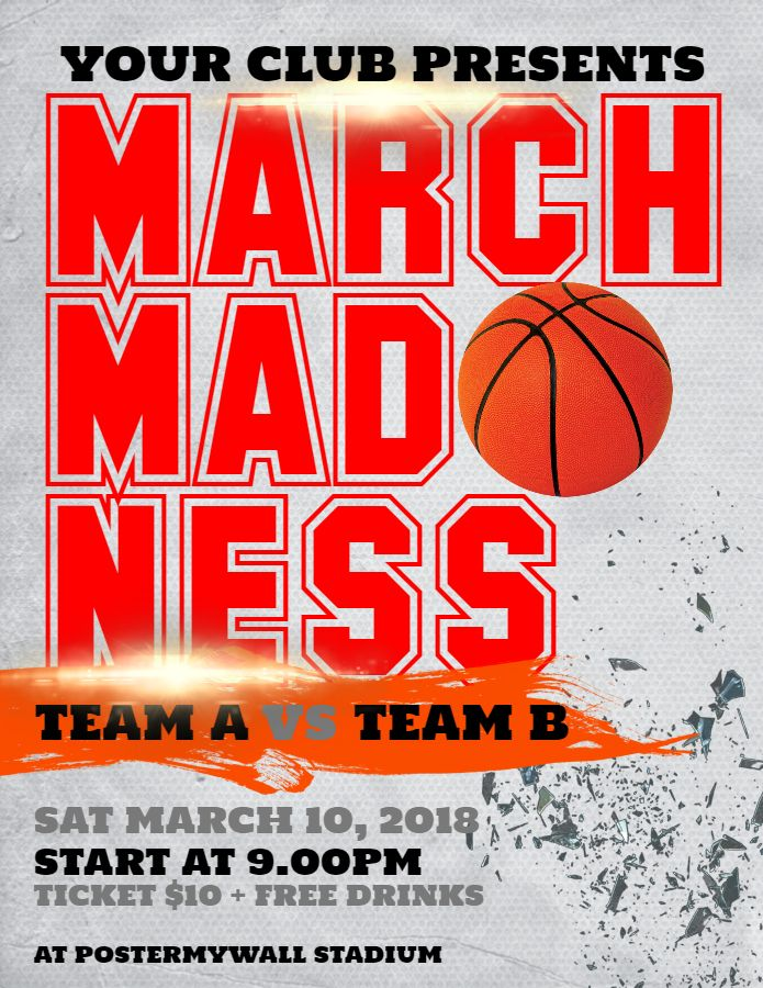 17 best March Madness Poster Templates images on Pinterest