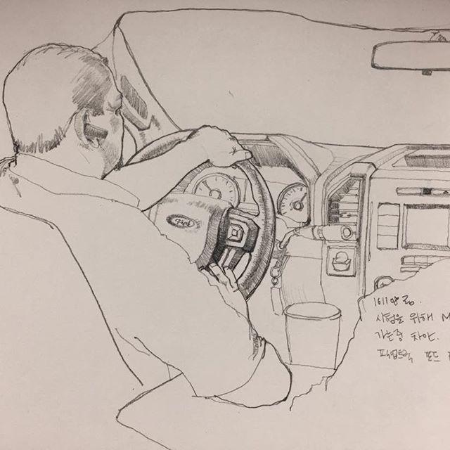 사진으로 찍어두고 나중에 그리고 #취미 #낙서 #그림 #스케치 #드로잉 #포드 #차 #hobby #doodle #drawing #sketch #pickuptruck #ford #f150