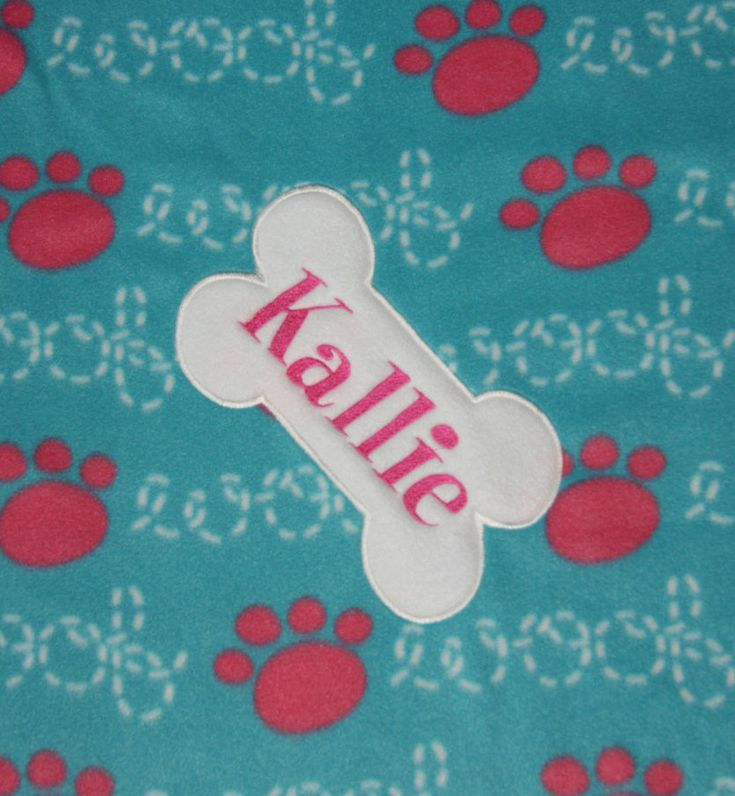 REVERSIBLE Pet Blanket Dog Blanket Fleece Custom Embroidered with Dog Name Made to Order Personalized puppy blanket personalized dog blanket by RedBobbinDesigns on Etsy